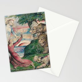 William Blake - Dante Running From The Three Beasts. Stationery Cards