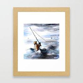 Deep Sea Fishing Framed Art Print