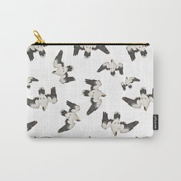 Birds Pattern Photo Collage Carry-All Pouch