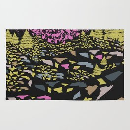 Trippy hills colorful Rug