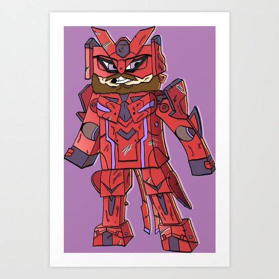 Phantasy Block - Minecraft Avatar Art Print