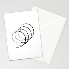 """ Eclipse Collection"" - Minimal Number Nine Print Stationery Cards"