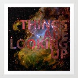 Galactic Positivity Wall Text Art Print