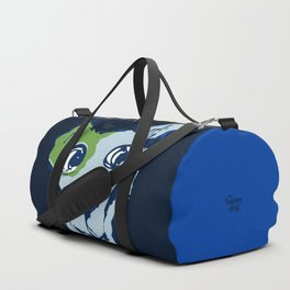 Anton - blue and lime Duffle Bag