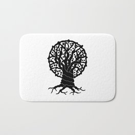 tree with circular branches Bath Mat