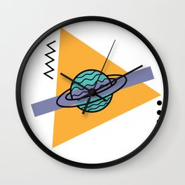 planet of the shapes Wall Clock