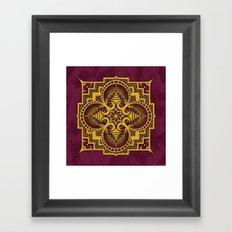 omjárah gold gallery mandala Framed Art Print
