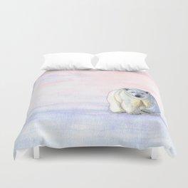 Polar bear in the icy dawn Duvet Cover