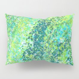 Lively Lime and Turquoise Paint Splatters Design Pillow Sham