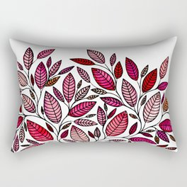 Red Leaf - Floral Illustration *P07 003 Rectangular Pillow