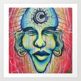 Moon God Art Print