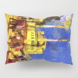Istanbul At Night Van Gogh Pillow Sham