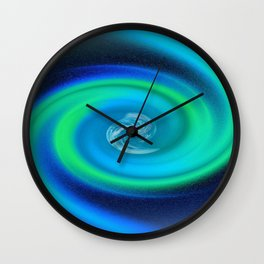 Galaxy Goes Green Wall Clock