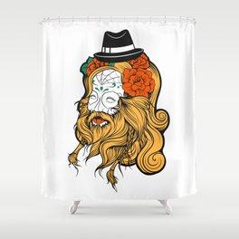 Bearded Women Girl Shower Curtain