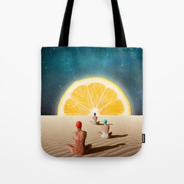 Desert Moonlight Meditation Tote Bag