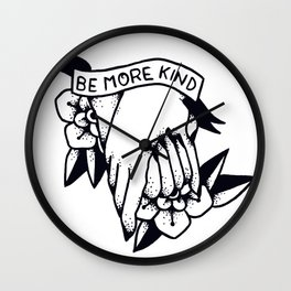 Be More Kind Wall Clock