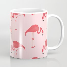 Flamingo Watercolor Pattern Coffee Mug
