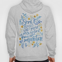 Discipline and inspiration - Hand Lettered Entrepreneur Quote Hoody