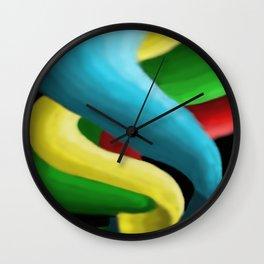 Painted Spirals Wall Clock