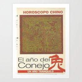 horoscopo Art Print