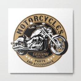 Motorcycle Accessories Metal Print