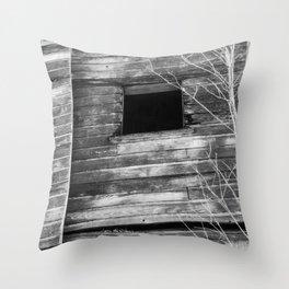 Window in Abandoned Barn 3 Throw Pillow