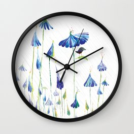 BLUE IS THE RAINIEST COLOR Wall Clock