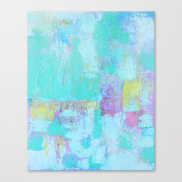 Turquoise, Blue Abstract Work Canvas Print