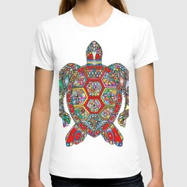 Colorful Sea Turtle Abstract Mandala T-shirt