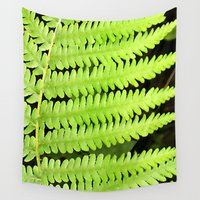 fern Wall Tapestries featuring Fern by Kama Storie