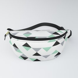 Triangles Mint Grey Fanny Pack
