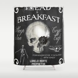 Halloween Decor Dead and Breakfast Shower Curtain