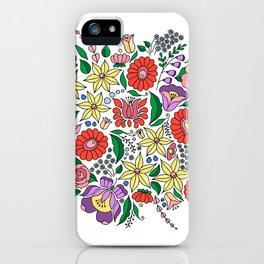 Hungarian embroidery motifs iPhone Case
