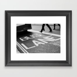 Bus lane London Framed Art Print