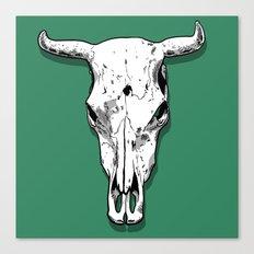 Longhorn skull Canvas Print