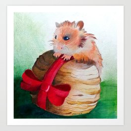 Chrisms Gift For A Squirrel Art Print