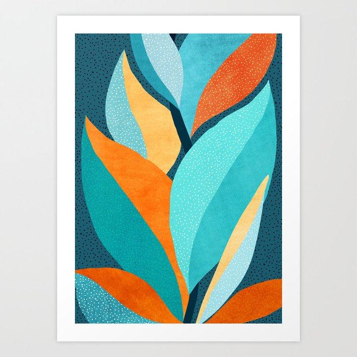Abstract Tropical Foliage Art Print