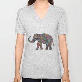 Animal Mosaic - The Elephant Unisex V-Neck