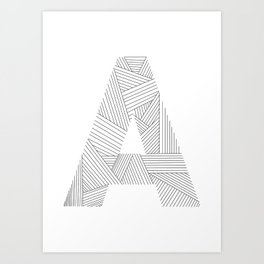 A strings Art Print