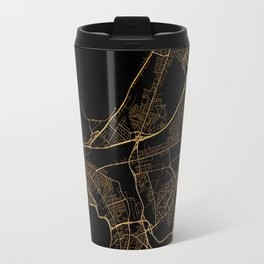 Black and gold Cape Town map Travel Mug