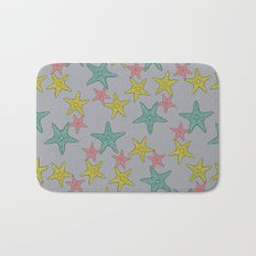 Starfish gray background Bath Mat