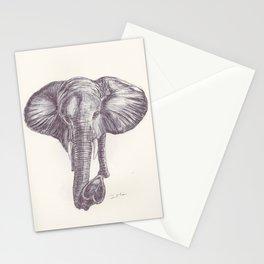 BALLPEN ELEPHANT 12 Stationery Cards