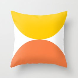 narcissus, geometric, modern, simple, colorful, yellow, orange, Throw Pillow
