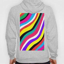 Multicolor Wavy Stripes Hoody