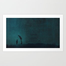 Father and son ~ Blue Art Print