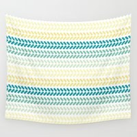 knit Wall Tapestries featuring Knit 1 by K&C Design