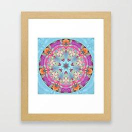 Mosaic Mandala Framed Art Print