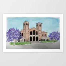UCLA Royce Hall Art Print
