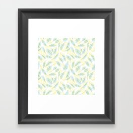 Wind and feathers Framed Art Print