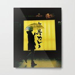 Tokyo in the rain Metal Print